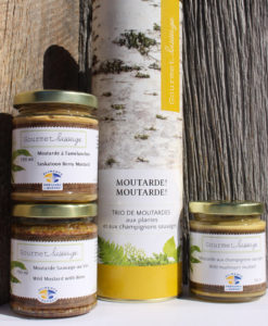 Trio moutarde-Gourmet sauvage-Folles d'ici